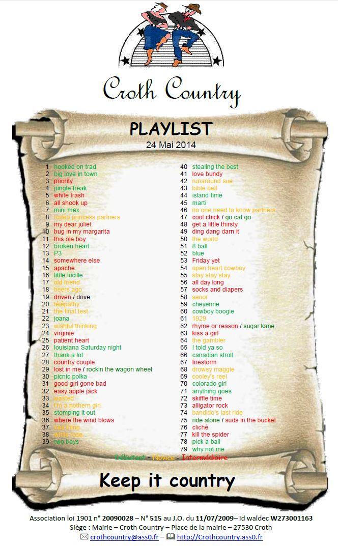 Crothcountry playlist 24 mai 2014